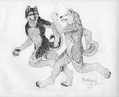 Run with me my dear friend by Phantom--Wolf
