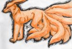 Kyuubi in the Black Fire by phoenixgigs