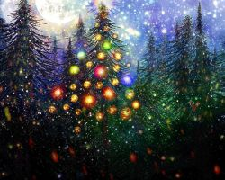 Moon Glitter Christmas Tree (For Michelle) by rabbitica