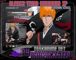Kurosaki Ichigo Theme Windows XP by Danrockster