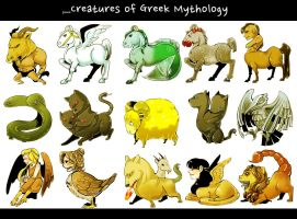 some creatures from greek myth by porifra