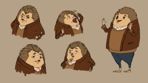 Hedgehod John's expression thing by vermilionalice