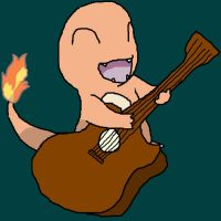 Charmander with Guitar Request by Jirachigirl