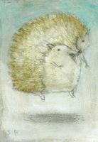 Hovering Hedgehog ACEO by SethFitts