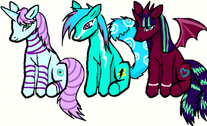 MLPs up for ADOPTION IS OPEN by Stormdeathstar9