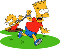 Bart and Lisa : Escape from camp deadly by Sapristi45