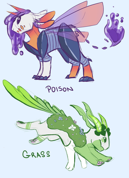 Type Swapping: Kay (Poison and Grass) by GoatTheKid