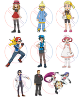 Pokemon X and Y Characters by 3D4D