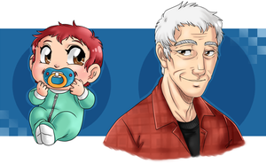 MM: Baby and Gramps Slater by GI-Ace