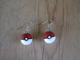 Pokeball Earrings by PunkTrunk