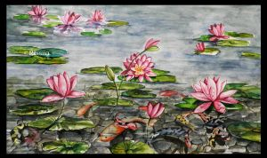 Lotus Koi Pond by shirly90
