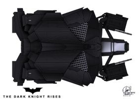 The Bat - Topview  - The Dark Knight rises by Paul-Muad-Dib