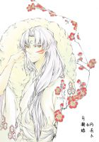 Sesshomaru of plum blossom colored by jiegengDai