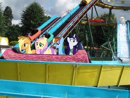 Ponies on the log flume ride by Zoiby