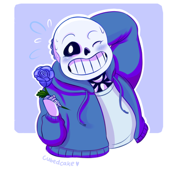 Undertale Rose Collection - Sans by CubedCake
