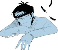Phase 2 Murdoc scribble!! :O by TonicTeaCup
