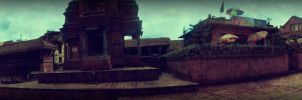 Bhaktapur Durbar Squ-Panorama by kingshrestha