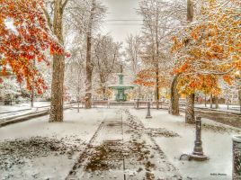 November Snow fountain by Browncoat359