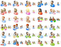 Desktop People Icons by Iconoman