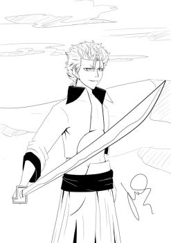 Grimmjow Lineart by Kinato