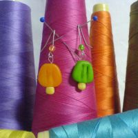 popsicle earrings by strictlyhandmade