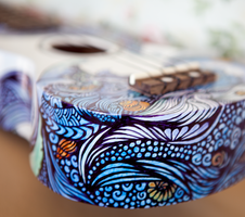 Ukulele Design - The Sea - Bottom by vivsters