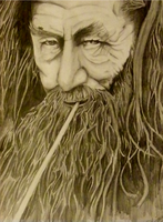 Old Art Work: Gandalf the Grey by BladeRazors