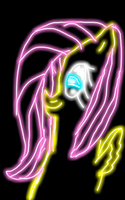Fluttershy (Made with kindle) by rainbowpaint15