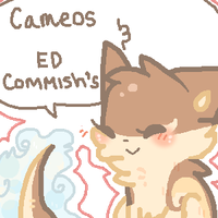 Cameos and ED Commissions! by ariamisu