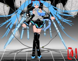 Cyber Miku World by ruzovymonster
