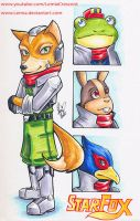 Copic Marker Star Fox by LemiaCrescent