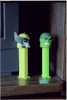 Wolverine and Hulk Pez by Fawkes881