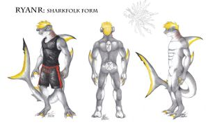 Ryanr Sharkfolk Ref Sheet by Ageaus