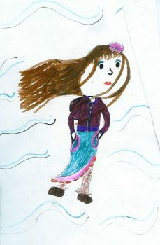 Girl Drawing 7 by Sharmini