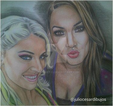 Alexa Bliss y Nia Jax by JulioArt33