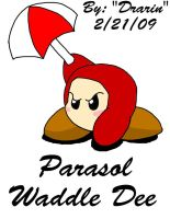 Kirby - Parasol Waddle Dee by Drarin1