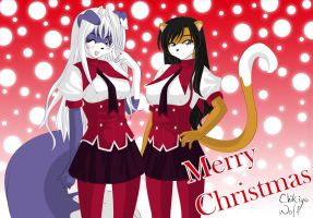 Merry Christmas -2010- by Chikiyo-Wolf