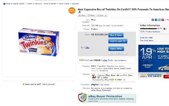 20 million dollars for a box of Twinkies? by blakeg14
