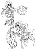 Anime Jack and Sally from NMBC by SandyJohn