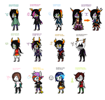 Homestuck oc's (Humans + Fantrolls!) by Glir29