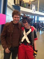 Quinton Flynn (Axel) and Sora by TheDoorWithin