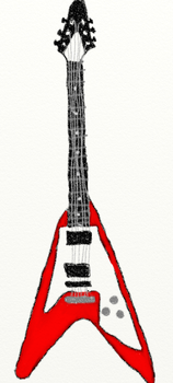 V Shaped Guitar by spinz17