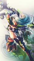 Katarina iPhone 5 Background - League of Legends by Blubbaz