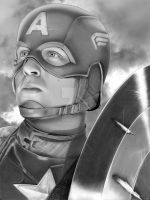 Captain America w background by corysmithart