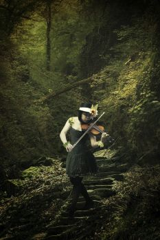 Violinist in the Forest by Holly6669666