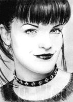 Pauley Perrette mini-portrait by whu-wei