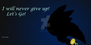 Never give up!- Silver the hedgehog by Lovely-Tsandy