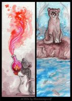 ACEO Cards: Immortal Dreams by MoonsongWolf