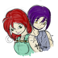 Spunck and Brimsom by kittyocean