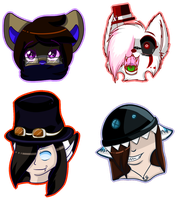 Headshot Commissions by MissKittens